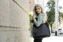 Load image into Gallery viewer, Kiko Leather - Raw Edge Tote