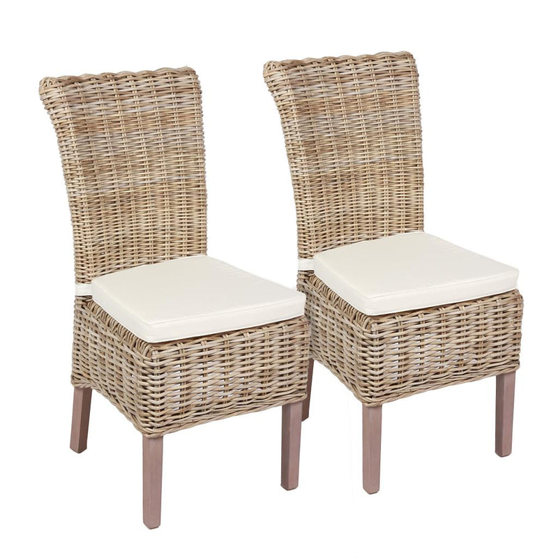 Windsor Wicker Chair With Cushion (Pair)