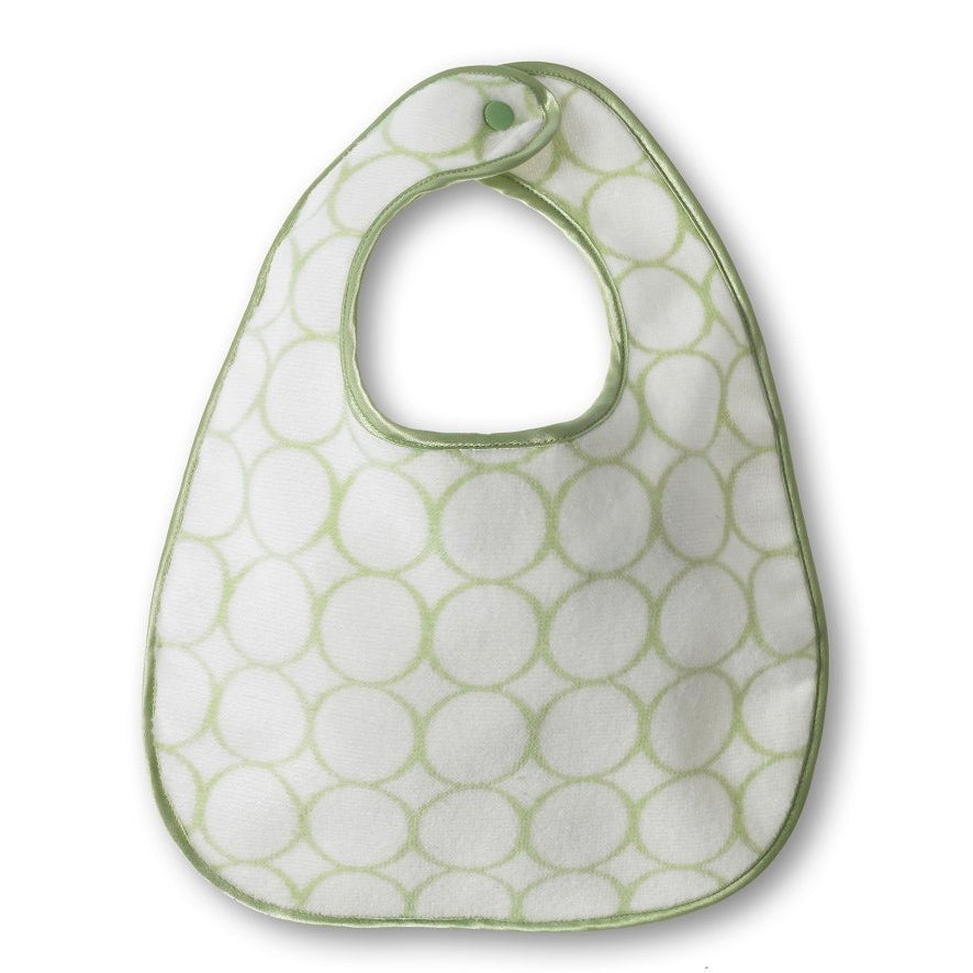 Green Terry Velour Bibs