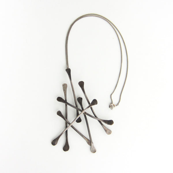 Modernist Paddle Pendant Sterling c. 1960
