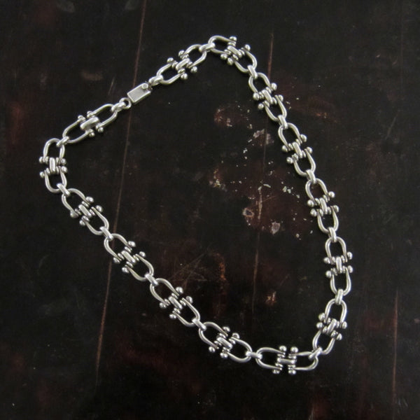 Awesome, Heavy Horse Bit Link Chain Sterling, Mexico c. 1990