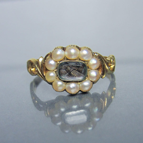 Early Victorian Mourning Ring 18k c. 1851