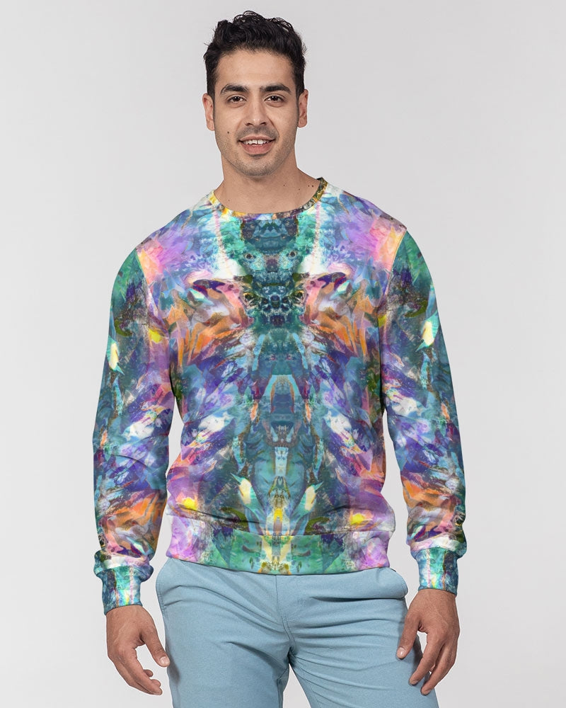 Crystal Visions Men's Classic French Terry Crewneck Pullover