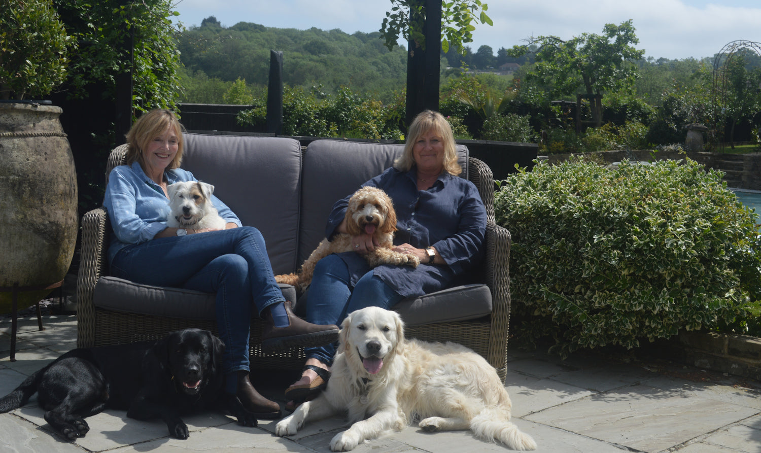 Karen & Sue with Dogs Story Image