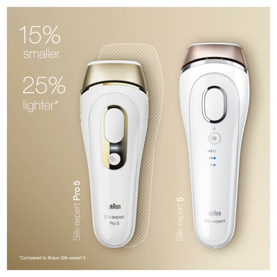 Braun Silk-Expert Pro 5 IPL5014 pulsed light depilator IPL permanent hair removal 400 000 shots 10 levels of intensity
