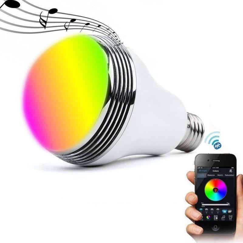 Smart Colour Changing LED Bulb Wireless Bluetooth For Home