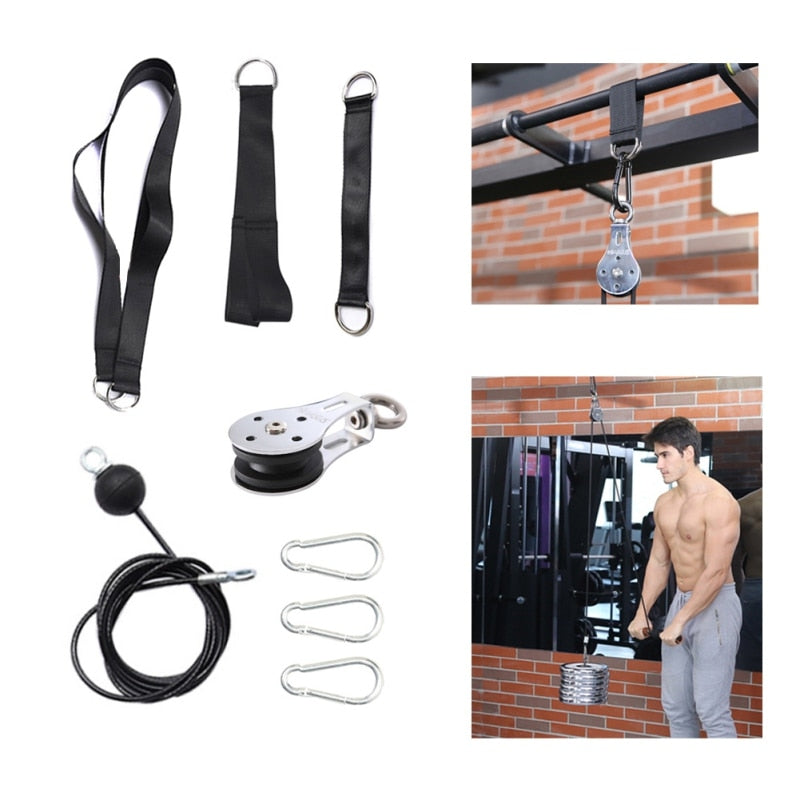 Cable Machine Attachments Rope D-Handle for Gym Fitness