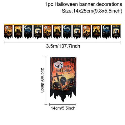 QIFU Halloween Lantern Lights Ornaments 2020 Halloween Party Decor for Home Horror House Outdoor Scary Hallowen Party Suppplies
