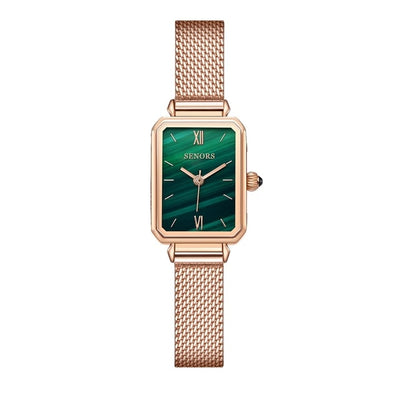 Senors Japan Quartz Movement High Quality  Waterproof Ladies watch Dropshipping Women Stainless Steel Mesh Rose Gold