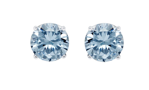 1ct - Sophisticated Sterling Silver Blue Topaz Stud Earrings