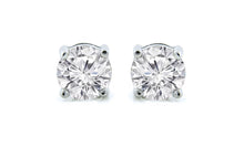 1ct - Sophisticated Sterling Silver White Sapphire Stud Earrings