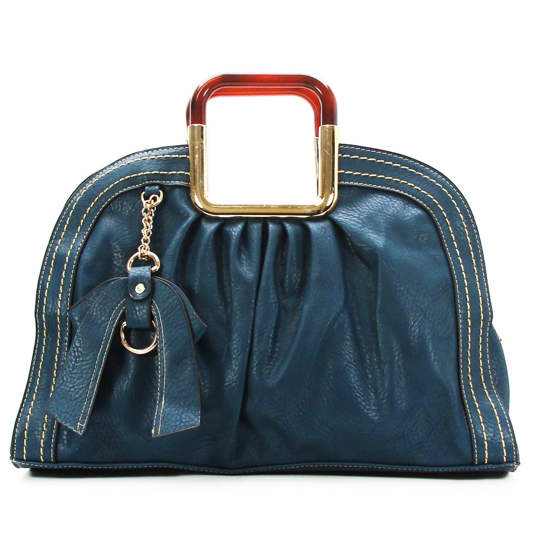 Jade Marie Unique Satchel Tote - Navy