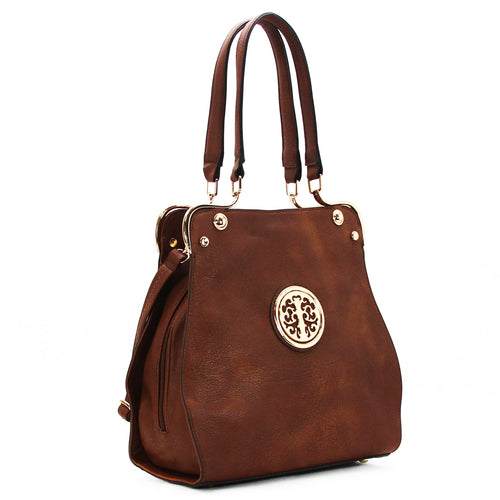 Jade Marie Medallion Tote - Milk Chocolate