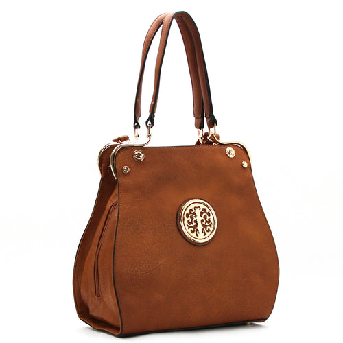 Jade Marie Medallion Tote - Redwood