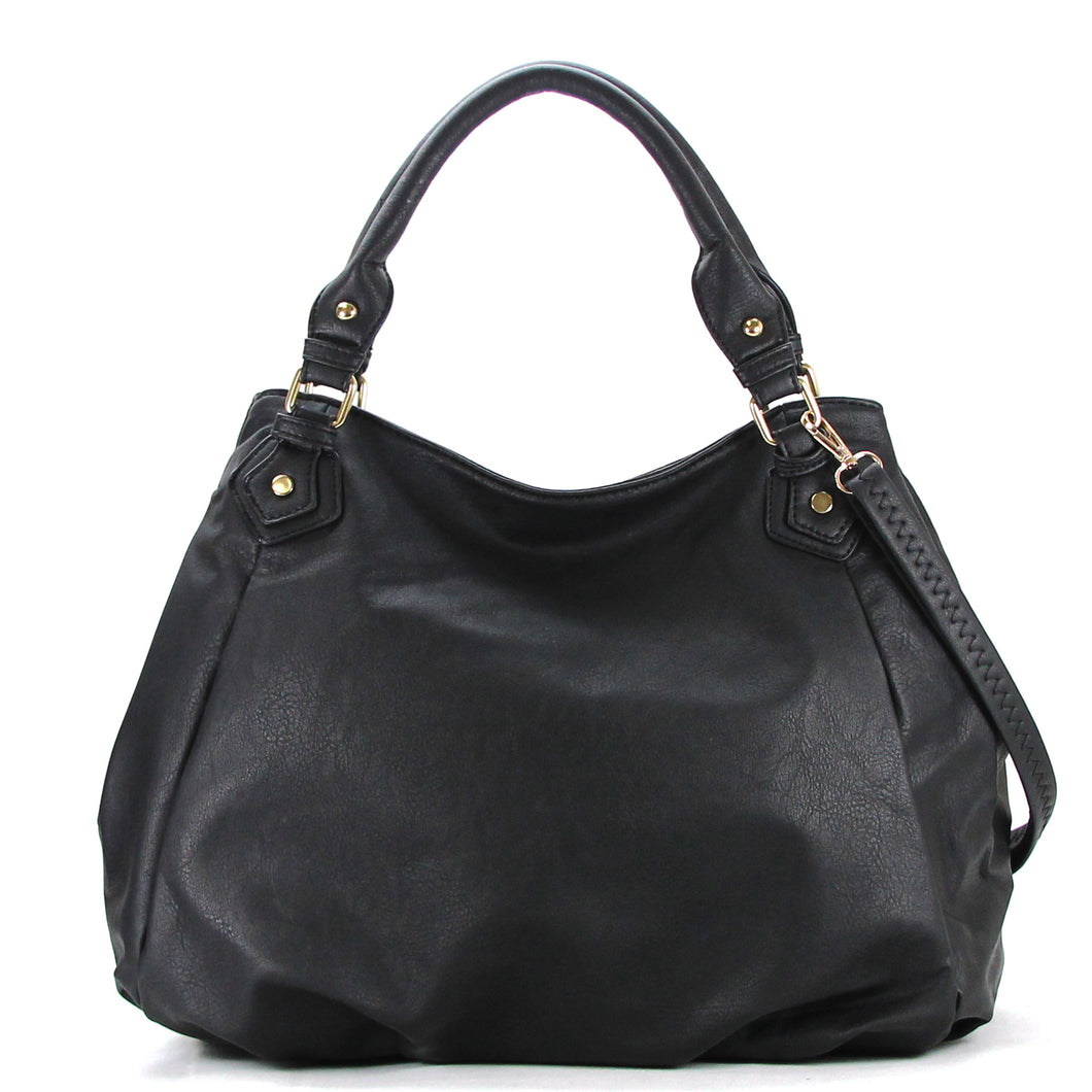 Jade Marie Fashion Tasteful Tote - Black - Handbags & Accessories