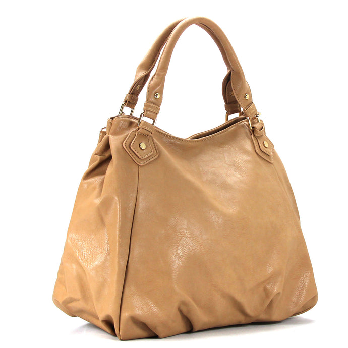 Jade Marie Fashion Tasteful Tote - Toasted Khaki - Handbags & Accessories