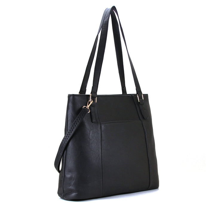 Jade Marie Fashion Sophisticated Tote - Black - Handbags & Accessories