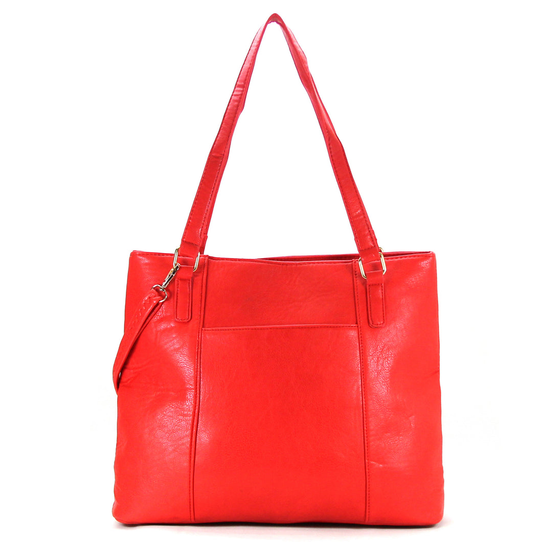 Jade Marie Fashion Sophisticated Tote - Strawberry - Handbags & Accessories