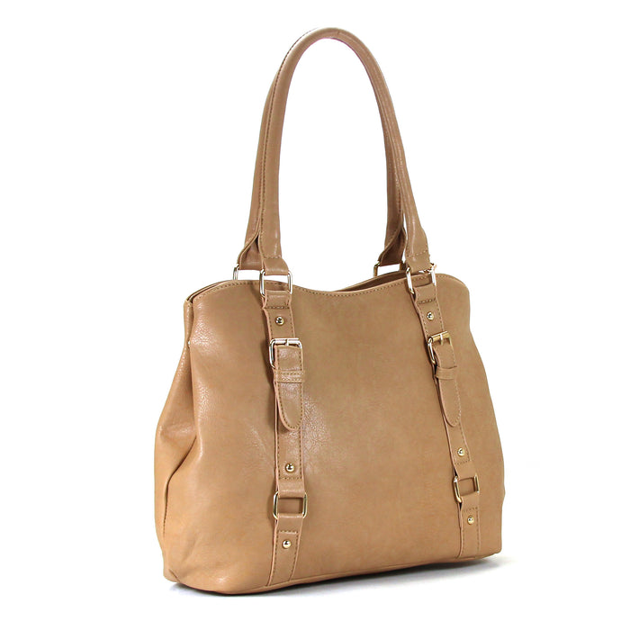 Jade Marie Fashion Inspirational Tote - Toasted Khaki - Handbags & Accessories