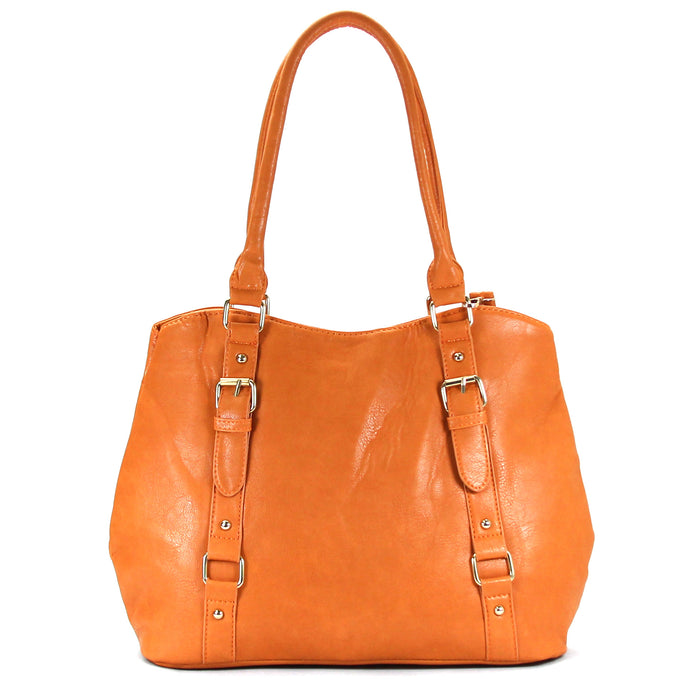 Jade Marie Fashion Inspirational Tote - Saddle - Handbags & Accessories
