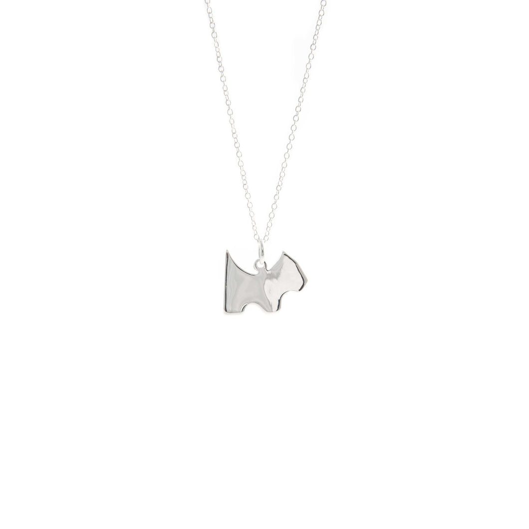 Women's Fashion Scottish Terrier Dog Pendant Necklace - Silver