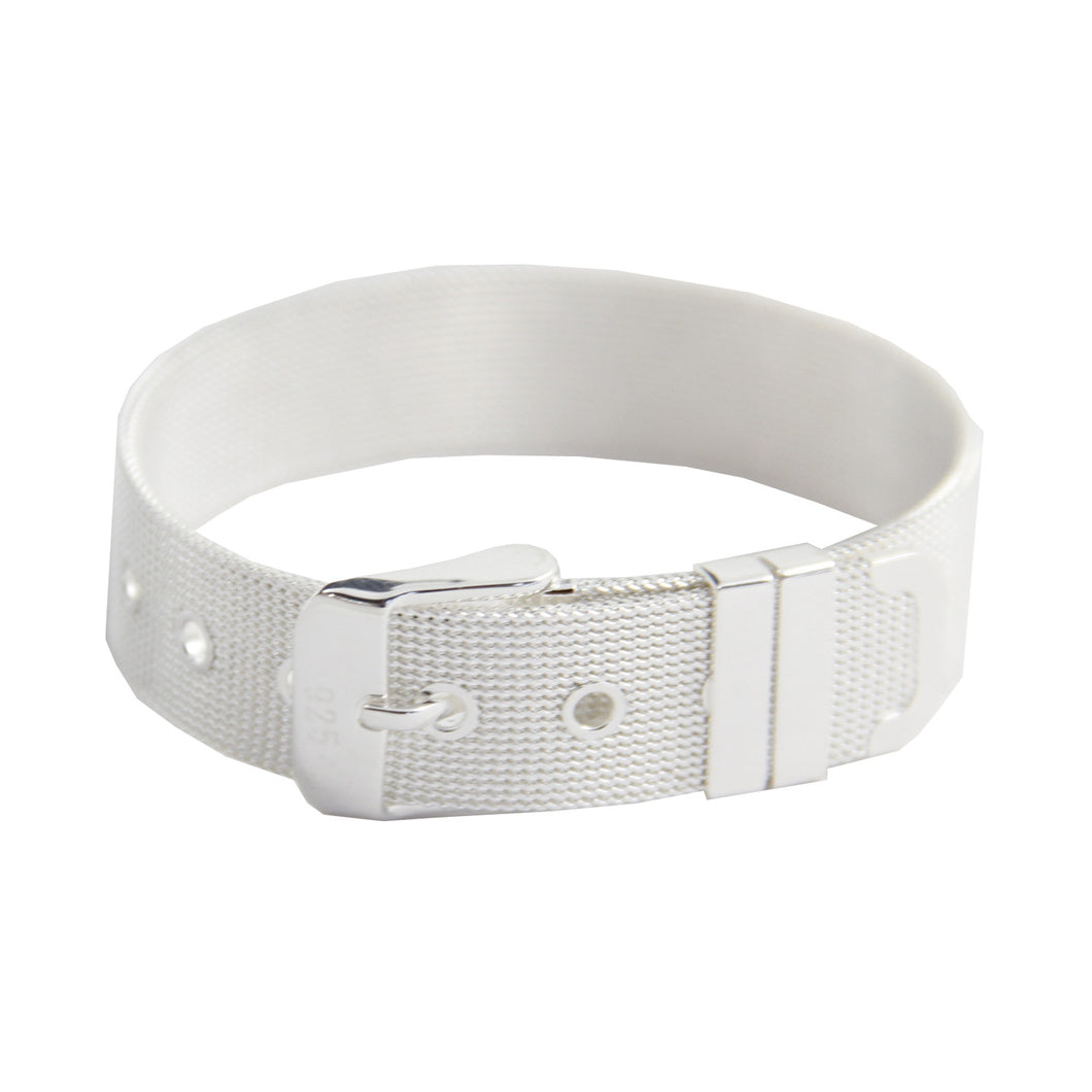 Women's Fashion Buckle Bracelet - Silver