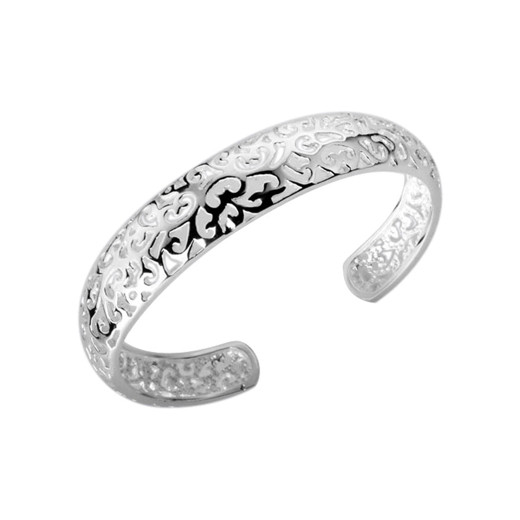 Women's Fashion Bangle Bracelet with Fashion Forward Design - Silver