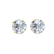 1Ct 14K Gold CZ Stud Earrings