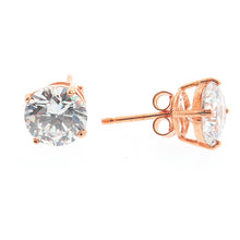 1ct - 14K Rose Gold CZ Stud Earrings