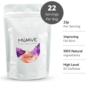 Muave - Purple Grey Loose Leaf Tea | The perfect definition of the essence post-modern classic taste is hidden in Muave Purple Gray. Zesty modern twist on a classic afternoon favourite tea with a hint of cream. The blend between the savoury Orange, citrusy Bergamot and delicate Lavender brings soothing and relaxing atmosphere to every home