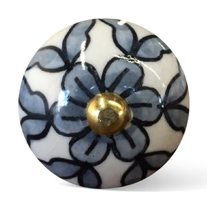 White, Blue And Black - Knobs 12-Pack