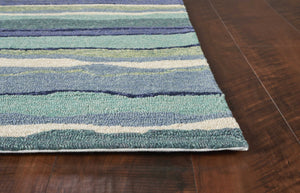 Indoor/Outdoor Coastal Palette Ocean Area Rug