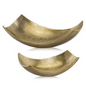 gold brushed decor bowl