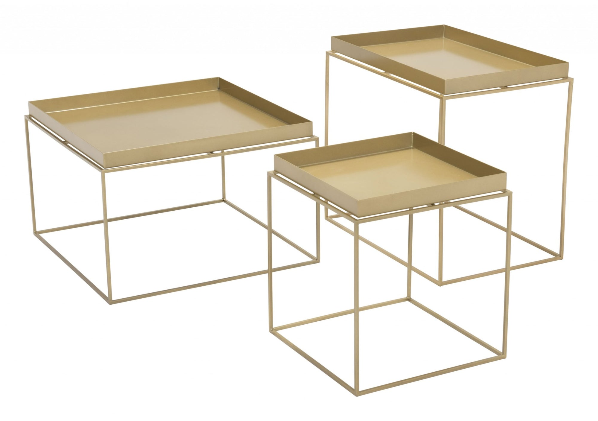 Gold Nesting Table Set