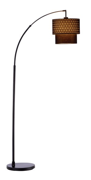 Black Metal Floor Lamp With Adjustable Arc