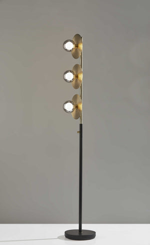 Three Globe LED Floor Lamp