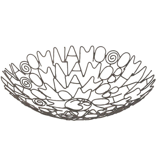 Recycled Metal Om Namo Mantra Bowl