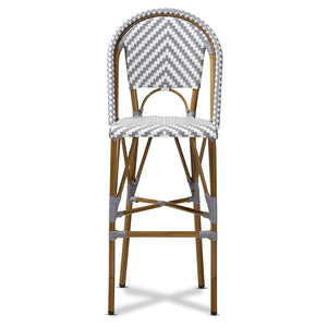 Ilene Classic French Bamboo Indoor/Outdoor Barstoo