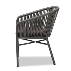 Brady Grey Outdoor Dining Chair
