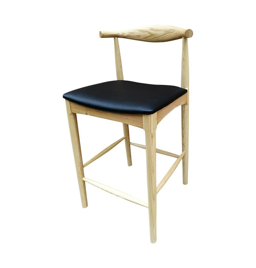 Myson Counter Stool - Ash & Black Seat - GFURN