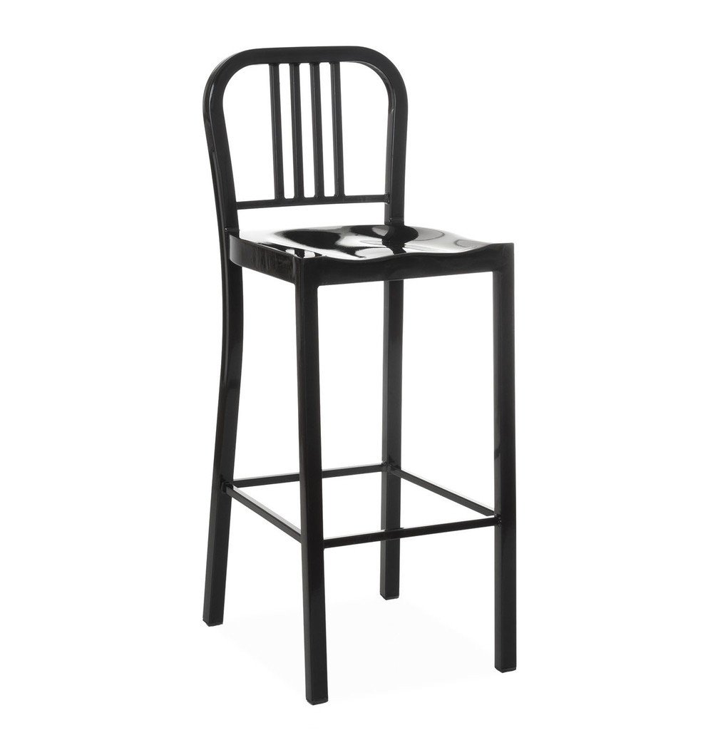 Black Metal Barstool - Oliver Bar Stool - Black