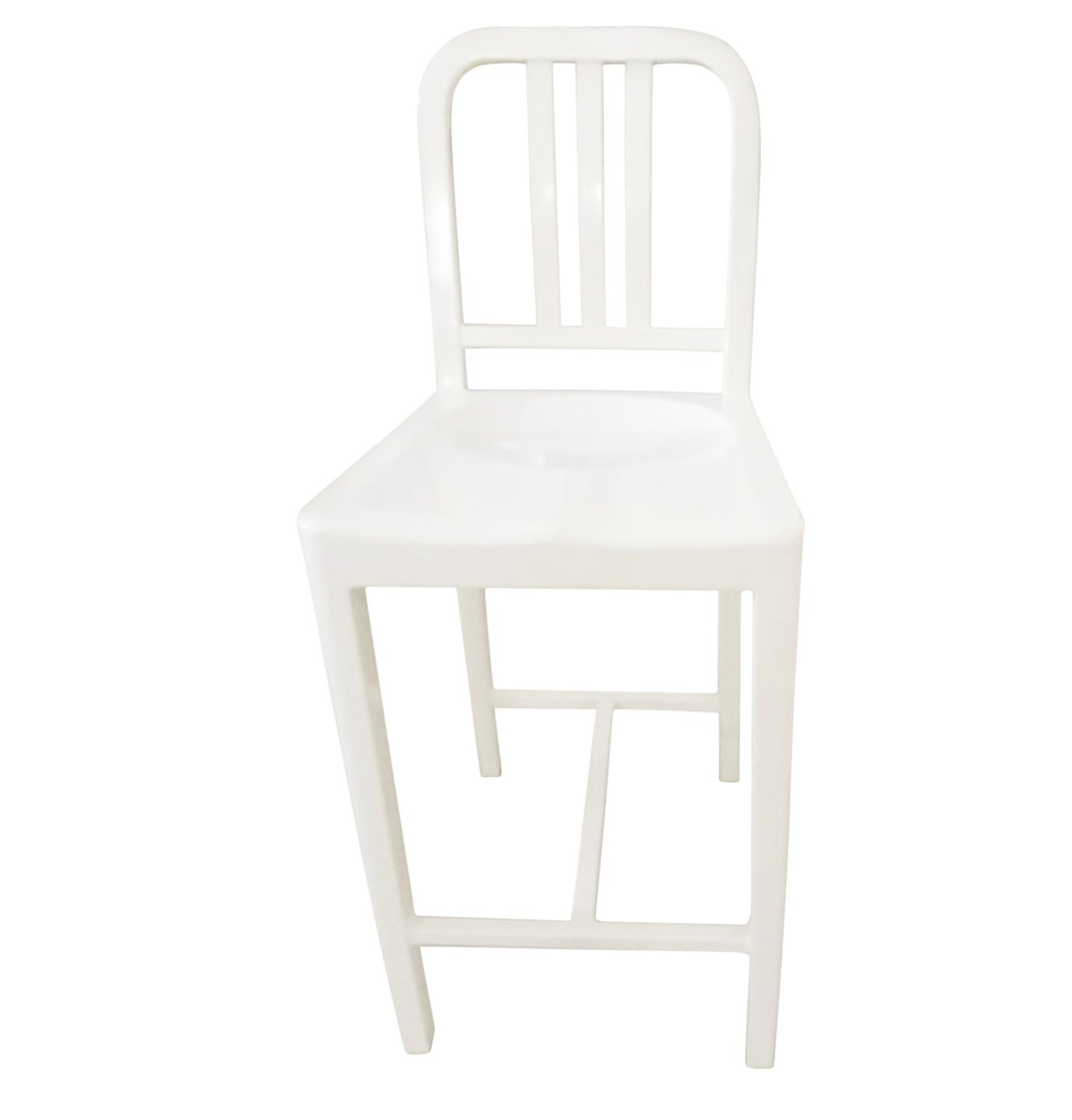 Oliver Counter Stool - Aluminium - White - GFURN