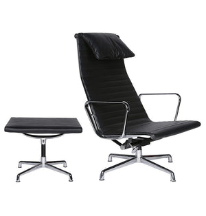 Mid Century Office Chair - Thore Office Chair & Ottoman