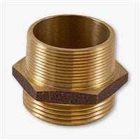 "Brass Double 1 1/2"" Male NST X 1 1/2"" Male NST"