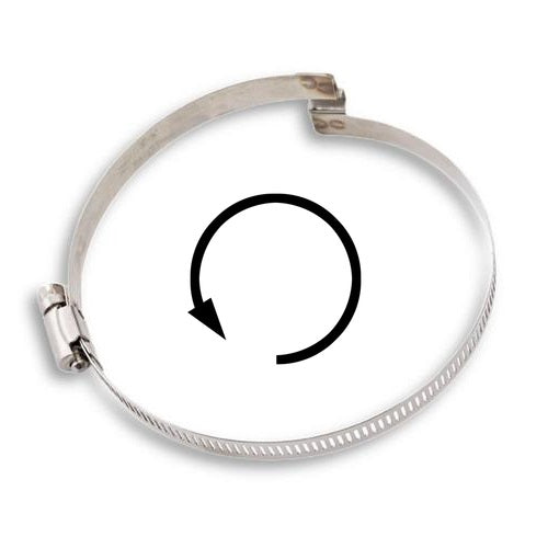 "Left Handed Bridge Hose Clamp - 12"" ID (Use with our PVC Agri-Fab / Flextube style hoses)"