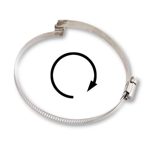 "Right Handed Bridge Hose Clamp - 10"" ID (Use with our TPU style hoses)"