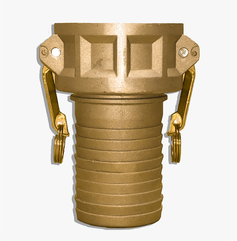 "BR-C400 (4"" Female Coupler x 4"" Hose Shank Brass Adapter call)"