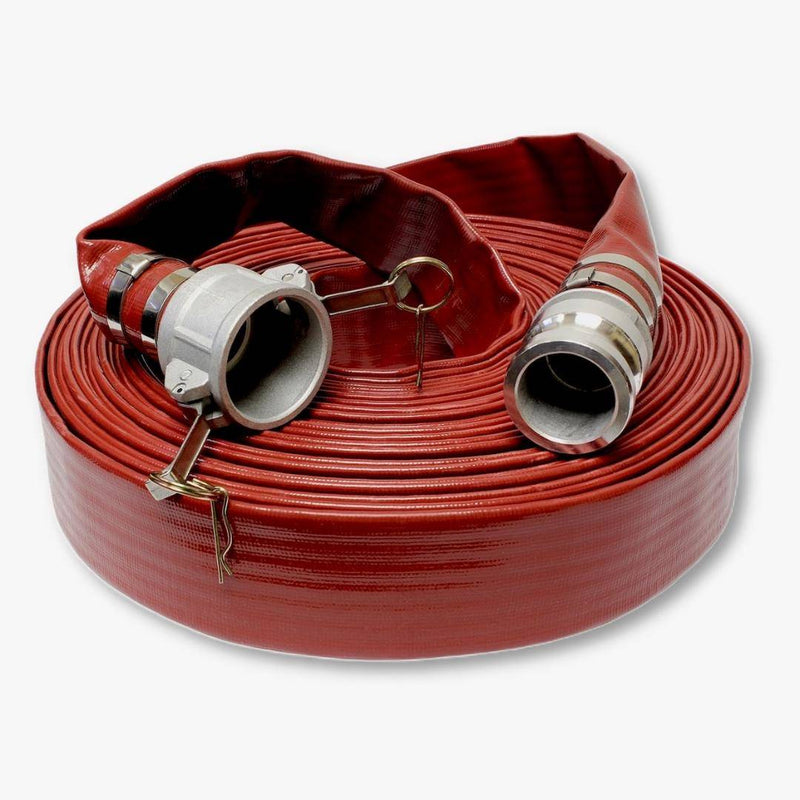 "Red PVC Discharge Hose (Camlock) 02"" x 100'"