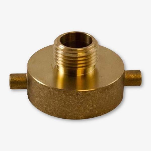 "Brass 2-1/2"" Female NST X 3/4"" Male GHT (Garden Hose Thread)"