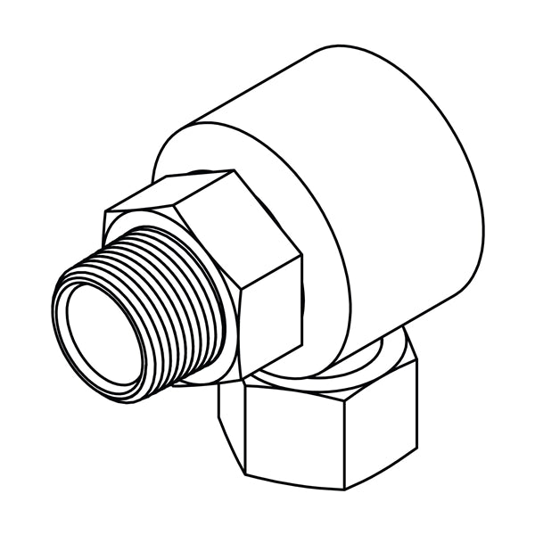 LS-1501 (Pipe to NPSM Swivel Elbow 90)